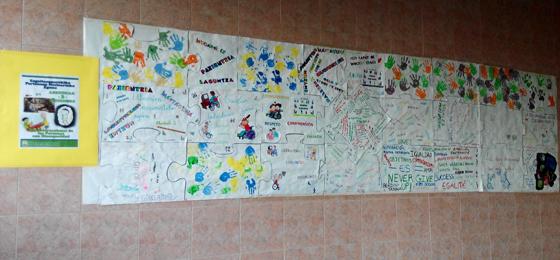 dia de las personas con discapacidad mural